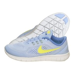 Nike Free RN GS Girls Medium Blue 833993-403 Lime
